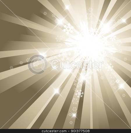 Christmas background with white snowflakes stock vector clipart, Christmas background with white snowflakes and place for your text by orson