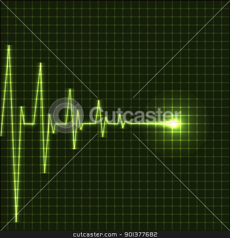 Abstract heart beats cardiogram stock vector clipart, Abstract heart beats cardiogram illustration - vector by orson
