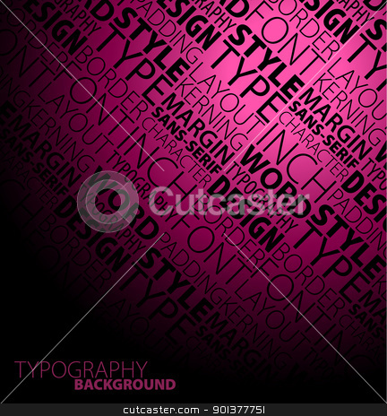 Abstract dark typography background stock vector clipart, Abstract dark blue design and typography background and typography background by orson