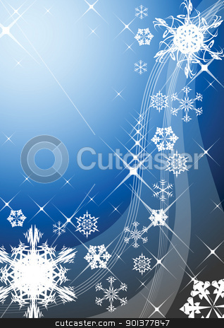 Abstract christmas background  stock vector clipart, Christmas background with snowflakes by orson