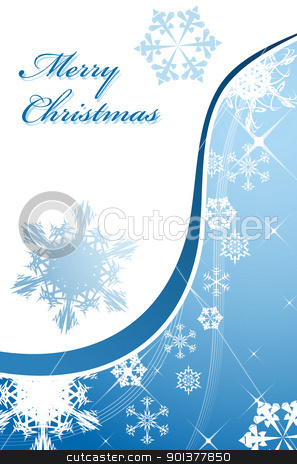 Christmas background stock vector clipart, Christmas background with snowflakes by orson