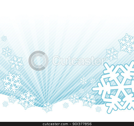 Snow falling on the landscape stock vector clipart, Snow falling on the landscape - abstract illustration by orson