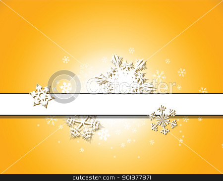 Christmas background with snowflakes  stock vector clipart, Christmas background with snowflakes and place for your text by orson