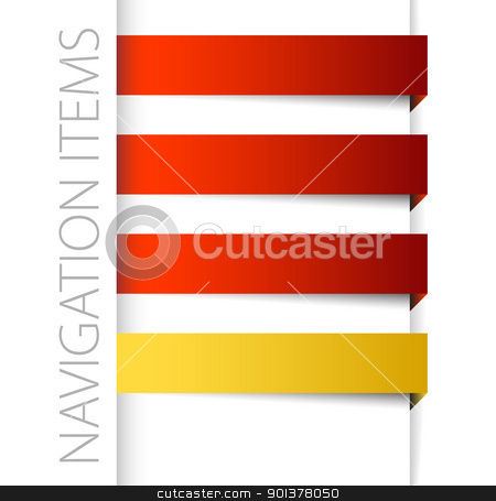 Modern red navigation items in right bar stock vector clipart, Modern red navigation items in right bar on white background (vector)  by orson