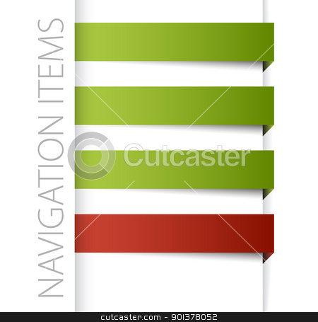 Modern navigation items stock vector clipart, Modern navigation items in right bar on white background (vector)  by orson