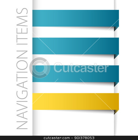 Modern blue navigation items stock vector clipart, Modern blue navigation items in right bar on white background (vector)  by orson