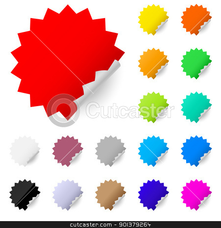 Abstract colorful labels stock photo, Abstract colorful labels. Illustration on white background      by dvarg