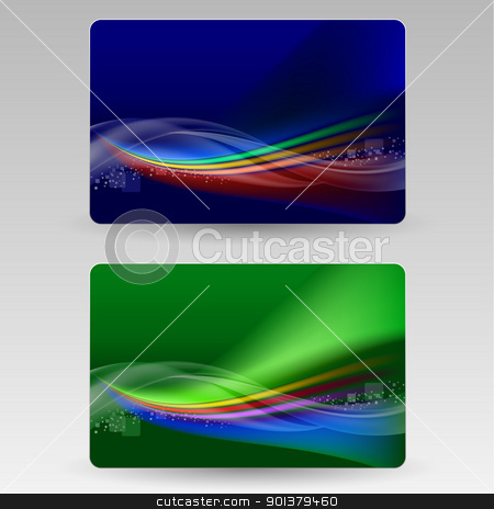 Abstract cards stock photo, Abstract cards. Illustration for design on gray background by dvarg