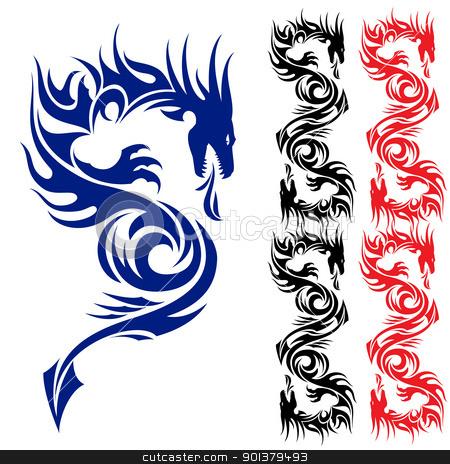 Asian Dragon Tattoos on Asian Tattoo Dragon  Stock Photo  Asian Pattern Tattoo  Dragon