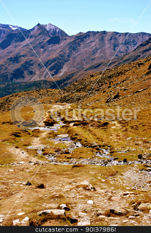 Tyrol stock photo, Landscape from Tyrol. View into the Val Senales in Italy,  by freeteo