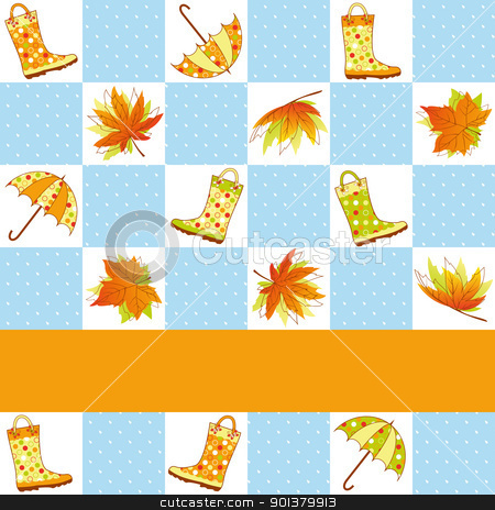 Colorful autumn rain seamless pattern stock photo, Colorful autumn rain seamless pattern background by meikis