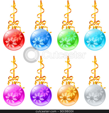 New Christmas decorations stock photo, New Christmas decorations. Illustration on white background.  by dvarg