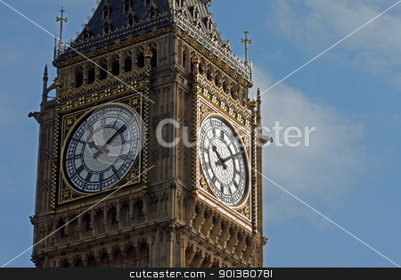 Ten past ten on Big Ben stock photo, Ten past ten on Big Ben taken in close-up by Denis Brien