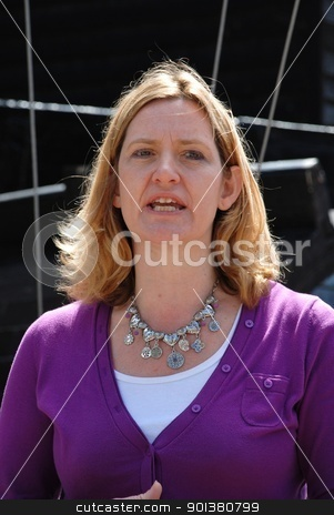 Amber Rudd stock photo, Amber Rudd, Conservative party Member of Parliament for Hastings and Rye, speaks at the launch of the Old Town Carnival Week at Hastings in East Sussex, England on July 30, 2011. by newsfocus1