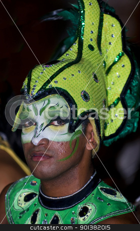 Cartagena de Indias celebration stock photo, Catagena de Indias , Colombia - December 22 : Portrait of a colombian man participant  in the celebration for the presentation of the new city symbol held in Cartagena de indias on December 22 2010 by Kobby Dagan