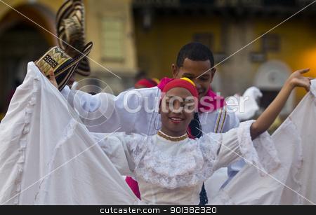 Cartagena de Indias celebration stock photo, Catagena de Indias , Colombia - December 22 : Dancer in the celebration for the presentation of the new city symbol held in Cartagena de indias on December 22 2010 by Kobby Dagan