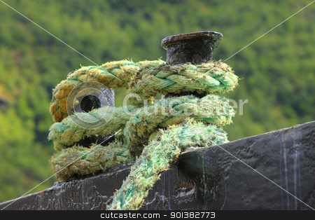 Rope for mooring a boat to a pier