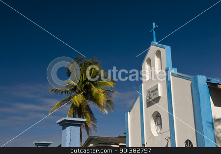 Church in San Andres Island stock photo, Church in the Caribbean island of San Andres  by Kobby Dagan