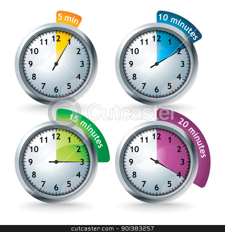 set of vector timers stock vector clipart, set of timers - vector illustration by ojal_2