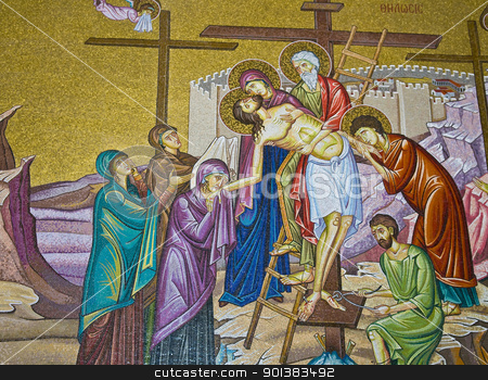 Holy sepulcher stock photo, Interior wall of the church of the Holy sepulcher in Jerusalem , Israel by Kobby Dagan