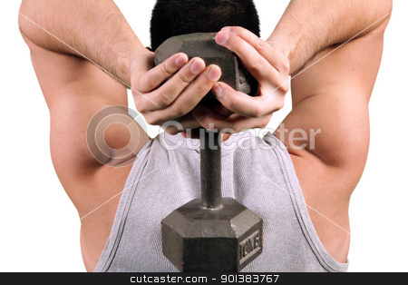 Tricep workout stock photo, Tricep workout by Haider Azim