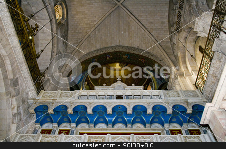 Holy sepulcher stock photo, Interior of the church of the Holy sepulcher in Jerusalem , Israel by Kobby Dagan