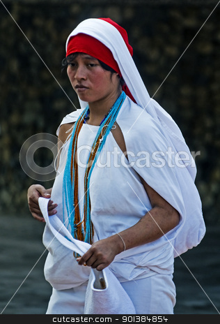 Indian woman stock photo, TAYRONA PARK , COLOMBIA - DECEMBER 17 2010 : Native Indian woman in