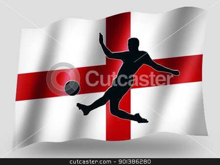 Country Flag Sport Icon Silhouette English Soccer stock photo, Country Flag Sport Icon Silhouette Series  English Soccer by Snap2Art