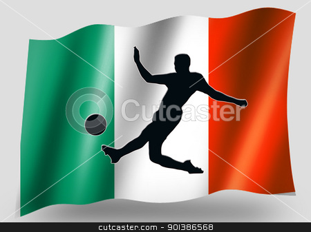Country Flag Sport Icon Silhouette Irish Soccer stock photo, Country Flag Sport Icon Silhouette Series  Irish Soccer by Snap2Art