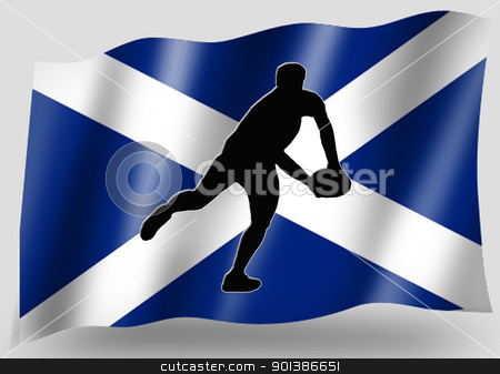 Country Flag Sport Icon Silhouette Scottish Rugby Pass stock photo, Country Flag Sport Icon Silhouette Series  Scottish Rugby Pass by Snap2Art