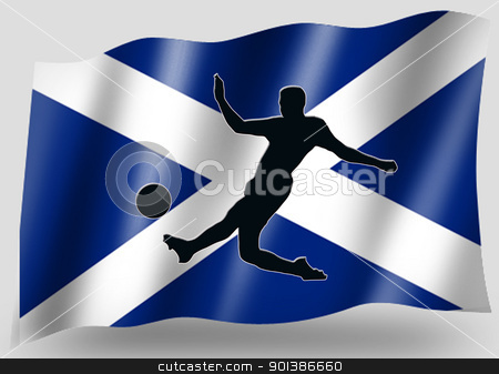 Country Flag Sport Icon Silhouette Scottish Soccer stock photo, Country Flag Sport Icon Silhouette Series  Scottish Soccer by Snap2Art
