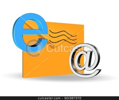 E-mail concept stock photo, An illustration of elegant 3d e-mail icon by Sreedhar Yedlapati