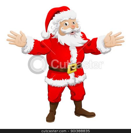 Santa Claus stock vector clipart, An illustration of a happy Christmas Santa Claus by Christos Georghiou