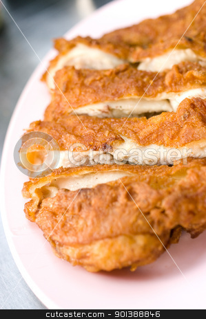 Fried chicken stock photo, Fried chicken, Food close up. by pixbox77