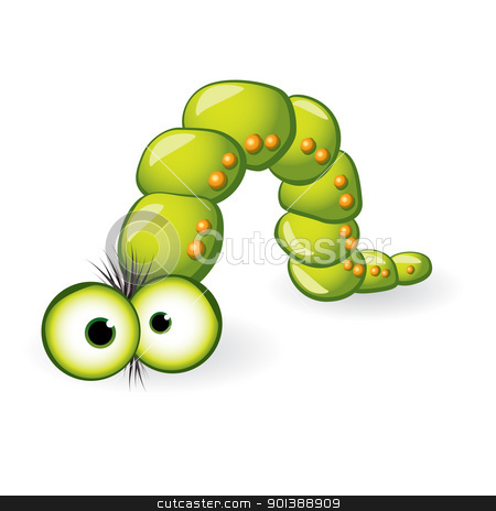 Larva Character  stock photo, Larva Character. Illustration on white background for design by dvarg