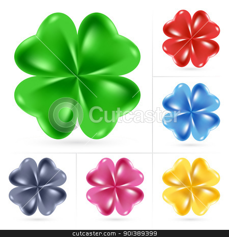 Irish shamrock stock photo, Set of Irish shamrock for St Patrick's Day by dvarg