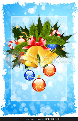 Christmas Card Template stock vector clipart, Christmas Card template with sparkles and decoration for your design by Vadym Nechyporenko