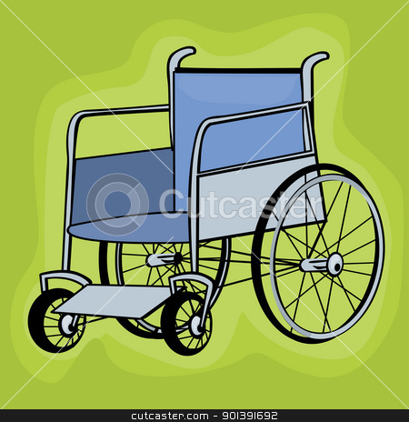 Clip art wheelchair stock vector clipart, A clip art wheelchair icons over white background by Richard Laschon