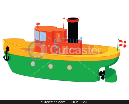 boat stock vector clipart, funny boat toy with a lot of details by wingedcats