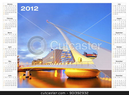 calendar 2012 architecture stock photo, calendar 2012 architecture by jordachelr