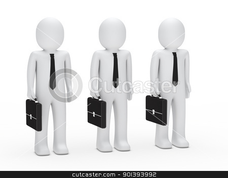 business men with tie and briefcase stock photo, 3s business men with tie and briefcase by d3images