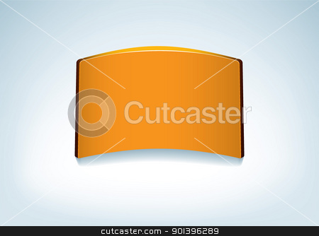Card abstract background stock vector clipart, 3d paper business card on abstract background and copyspace by Michael Travers