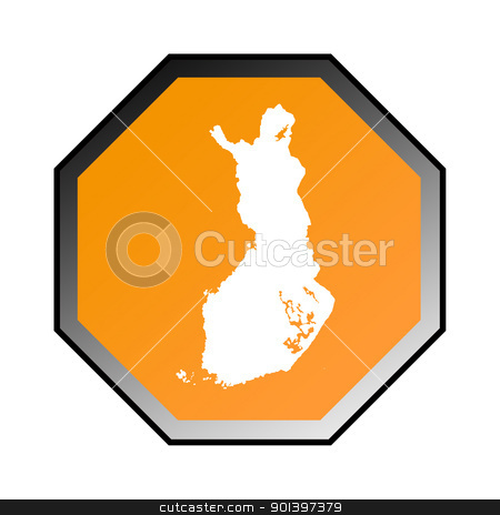 Finland road sign  stock photo, Finland road sign isolated on a white background. by Martin Crowdy
