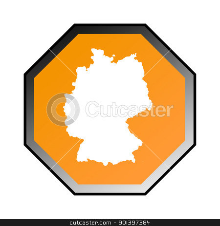 Germany road sign stock photo, Germany road sign isolated on a white background. by Martin Crowdy