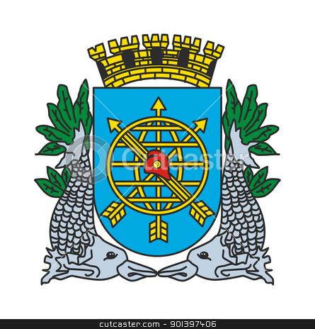 Rio de Janeiro coat of arms stock photo, Rio de Janeiro coat of arms; isolated on white background. by Martin Crowdy