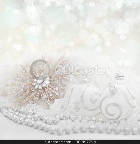 white christmas holiday background stock photo, white christmas holiday background by mandygodbehear