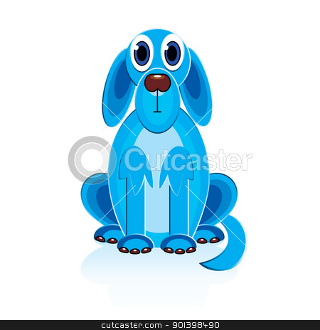 Cartoon Blue Dog stock photo, Cartoon Blue Dog. Illustration on white background for design  by dvarg
