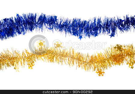 Christmas garlands stock photo, Christmas garlants isolated on white background. by Homydesign