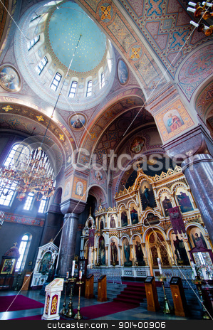 Uspenski cathedral stock photo, detail of the interior of the Uspenski cathedral in Helsinki by Juliane Jacobs