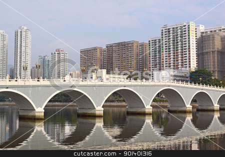 Arch bridge in asia downtown area, hong kong stock photo, Arch bridge in asia downtown area, hong kong by Keng po Leung